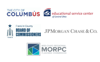 logos of ESC, MORPC, JPmorganchase, City of Columbus, and Franklin County Board of Commissioners