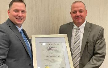 Superintendent Tom Goodney receives BASA exemplary leadership award
